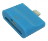 iPhone 5 Plug to micro USB / iPhone 4 Adaptor (2 in 1) in blue