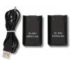 2 x Μπαταρία CICMOD 4800mAh + καλώδιο USB για έλεγχο τηλεχειρισμού Xbox 360 μαύρο(OEM)
