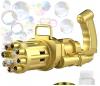 Υπαίθριο παιχνιδι με σαπουνοφουσκες Χρυσο χρωμα, οπλο (oem)