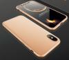 Θήκη Bakeey™ Full Plate 360° για iPhone X + Προστατευτικό Οθόνης Tempered Glass Χρυσό