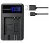 USB Battery Charger με LCD οθονη για Panasonic CGA-S008  DMC-FS3 DMC-FX30 S10 LEICA RICOH