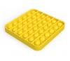 Pop It Παιχνίδι  ΑντιΣτρες - Bubble μονοχρωμο κιτρινο τετραγωνο  (oem)(bulk)