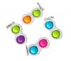 Pop It Παιχνίδι  ΑντιΣτρες - Bubble πολυχρωμο  Διπλο Spinner  (oem)(bulk)