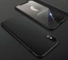 Θήκη Bakeey™ Full Plate 360° για iPhone X + Προστατευτικό Οθόνης Tempered Glass Μαύρο