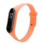 oem Ανταλλακτικό Λουρί Σιλικόνης για Xiaomi Mi Band 5 Πορτοκαλι