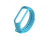 oem Ανταλλακτικό Λουρί Σιλικόνης για Xiaomi Mi Band 3 / 4 / 5 Ανοιχτο Μπλε