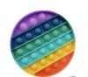 Pop It Παιχνίδι  ΑντιΣτρες - Bubble ουρανιο-τοξο στρογγυλο (oem)(bulk)