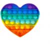 Pop It Παιχνίδι  ΑντιΣτρες - Bubble ουρανιο-τοξο καρδιά (oem)(bulk)