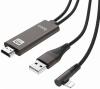 Καλώδιο σύνδεσης Hoco UA14 Lightning σε HDMI 1080P HD 5V/1A Μαύρο 2m