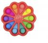 Pop It Παιχνίδι  ΑντιΣτρες - Bubble ουρανιο τοξο χρωματισμος Μαργαριτα (oem)(bulk)