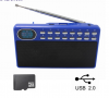 KNSTAR KD-S009 Mini fm autoscan usb radio station blue