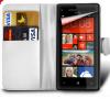 Δερμάτινη Θήκη Πορτοφόλι για BlackBerry Z30 Ασπρο (OEM)