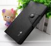 Δερμάτινη Θήκη/Πορτοφόλι για Alcatel One Touch Idol X (OT-6040D) Μαύρο (ΟΕΜ)
