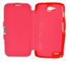 ZTE Blade Q Maxi - Μαγνητική Θήκη Με Σκληρό Πίσω Κάλυμμα Σκούρο Κόκκινο (ΟΕΜ)
