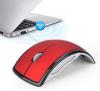 Wireless Optical Usb Mouse Mobilis Folding 3 Πλήκτρων Μαύρο - Κόκκινο