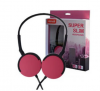 Maxell Super Slim Ακουστικά Κεφαλής MXH-HP200 με Ενσωματωμένο Μικρόφωνο Ροζ