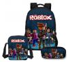 Roblox des13 Game Τσάντα πλάτης αδιάβροχη Και Τσαντακι φαγητου Και Κασετινα (ΟΕΜ)