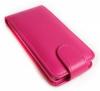 Motorola Moto E Dual SIM XT1022 - Δερμάτινη Θήκη Flip Φούξια (ΟΕΜ)