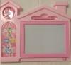 Πίνακας ζωγραφικής - εγγραφής Σπίτι με ρολόι και παιχνίδι - Ροζ