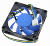 70x70x15mm Ανεμιστηράκι για PC 12v 4pin Μπλε/Μαύρο (OEM) (BULK)