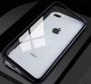Μαγνητική Μεταλλική Θήκη OEM Full Cover 360 για iPhone 7/8 Plus - Μαύρη Με Διάφανη Πλάτη(OEM)