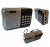 Ραδιόφωνο Τσέπης με USB/SD/TF CMiK MK-140 (ασημι)