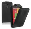 Motorola Moto G / Moto G X1032 - Δερμάτινη Θήκη Flip Μαύρη (OEM)