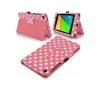 """Δερμάτινη Θήκη για το Asus Google Nexus 7 2013 7"""" Ρόζ με Άσπρες Βούλες (OEM)"""