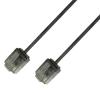 Techly ICOC U6-SLIM-005T Καλώδιο δικτύου λεπτο UTP Cat.6 Μαυρο  Ultra Slim 3μ