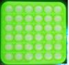 Pop It Παιχνίδι  ΑντιΣτρες - Bubble μονοχρωμο πρασινο τετραγωνο  (oem)(bulk)
