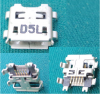 Βύσμα Τροφοδοσίας/Δεδομένων micro USB 5pin Square Mouth για Toshiba Excite AT10 AT15-A16 (Oem) (Bulk)