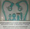 Ασύρματα Ακουστικά Hands free Άθλησης Bluetooth με μικρόφωνο - Τιρκουάζ (ΟΕΜ)