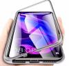 Σκληρή μαγνητική θήκη για Xiaomi Redmi Note 8 Ασημι (OEM)