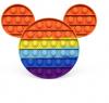 Pop It Παιχνίδι  ΑντιΣτρες - Bubble ουρανιο τοξο χρωματισμος MICKEY (oem)(bulk)