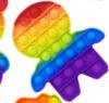 Pop It Παιχνίδι  ΑντιΣτρες - Bubble ουρανιο τοξο χρωματισμος Ανθρωπακι (oem)(bulk)
