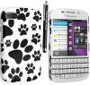 Σκληρή Θήκη Πίσω Κάλυμμα για BlackBerry Q10 Λευκή Με Πατούσες (ΟΕΜ)