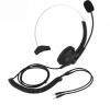 Ενσύρματο Ακουστικο και χειλόφωνο  με  συνδεση διπλο 3.5mm jack για Τηλεφωνικές Συσκευές