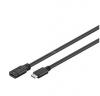 Goobay extension cable C USB 3.1 plug> C USB 3.1 connector black, 1 meter