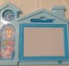 Πίνακας ζωγραφικής - εγγραφής Σπίτι με ρολόι και παιχνίδι - Μπλε