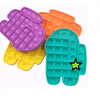Pop It Παιχνίδι  ΑντιΣτρες - Bubble μονοχρωμο AMONG US - Τιρκουαζ  (oem)(bulk)