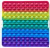 Pop It Παιχνίδι  ΑντιΣτρες - Bubble ουρανιο-τοξο  χρωματα Γιγας Τετραγωνο (oem)(bulk)