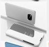 Θήκη Βιβλιο  Clear View για Xiaomi Poco X3 - Ασημι (OEM)