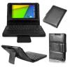 Δερμάτινη Θήκη Bluetoth με Πληκτρολόγιο για το Asus Google Nexus 7 2013 FHD 2nd Μαύρη OEM