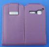 Δερμάτινη Θήκη Flip για Alcatel One Touch S'Pop OT 4030d Μώβ (OEM)