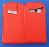Δερμάτινη Θήκη Flip για Alcatel One Touch S'Pop OT 4030d Κόκκινο (OEM)