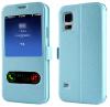 Θήκη για Samsung Galaxy A10/M10 book με παραθυρα , γαλάζιο (OEM)