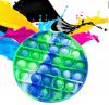 Pop It Παιχνίδι  ΑντιΣτρες - Bubble νερομπογιες χρωματισμος στρογγυλο (oem)(bulk)