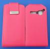 Δερμάτινη Θήκη Flip για Alcatel One Touch S'Pop OT 4030d Φούξια (OEM)