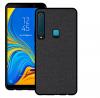 Σκληρή Θήκη σιλικόνης TPU Μαύρη με υφασματινη υφή  για Samsung A9 2018 (ΟΕΜ)
