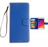 Lenovo A536 - Δερμάτινη Θήκη πορτοφόλι με πίσω καλυμμα σιλικονης Μπλέ (OEM)